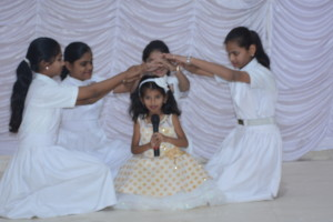 "Drama of ""Beti Bacho"" presented by Little Star Convent students."